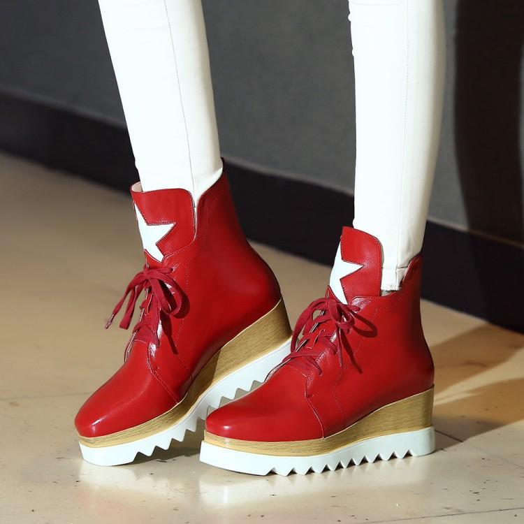 Фотография 2015 New Fashion Wedges woman Boots Women