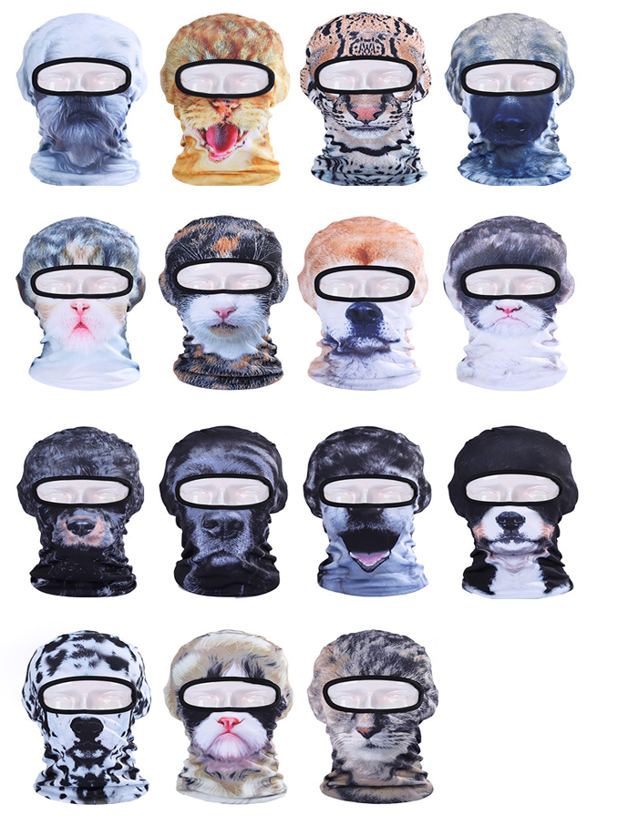 2016 New 3D Animal Active Outdoor Sports Cap Bicycle Cycling Fishing Motorcycle Masks Ski Balaclava UV Hat Full Face Mask(China (Mainland))