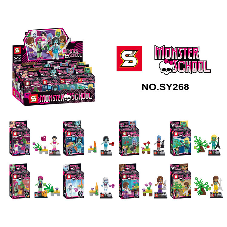 SY268 Haunted moster High School 8pcs/lot Building Brick Blocks Minifigure Education Classic Children Toys Compatible With Lego(China (Mainland))