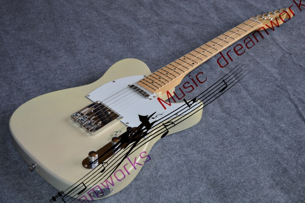 Chinas OEM guitar  TL electric guitar Can accept custom, color changes, wood changes.Transparent yellow milk<br><br>Aliexpress