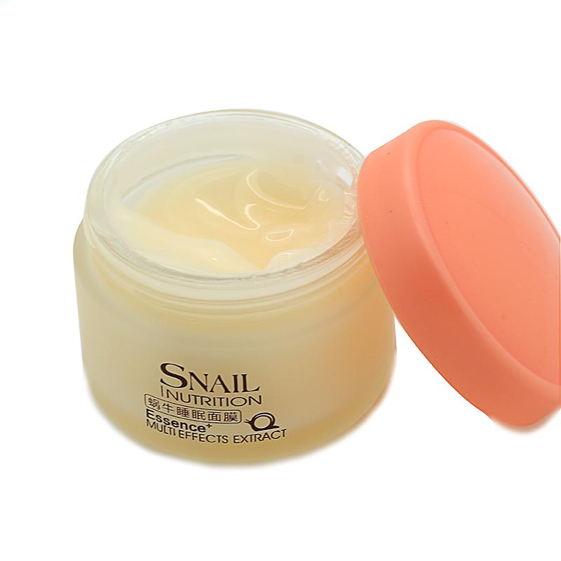 Гаджет  LAIKOU No Wash Snail Sleeping Mask Cream Essence Moisturizing Night Cream Anti Aging Anti Wrinkle Nutrition Face Cream None Красота и здоровье