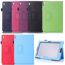 For Lenovo A7600 10.1 inch case Lichee Style Folio Book PU Leather Cover With Stand For Lenovo A7600 A10-70 Tablet Accessories
