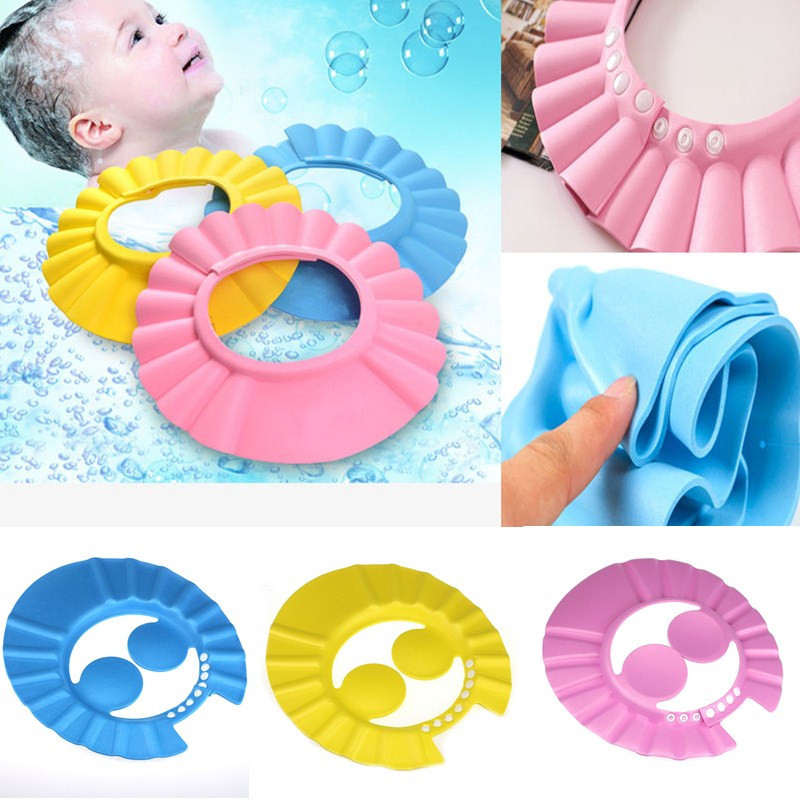 1 Adjustable Shampoo Bathing Bath Shower Wash Hair Shield Protect Ear Wash Hair Cap Hat Cap Protects Kids Baby Or Toddler's Eyes(China (Mainland))