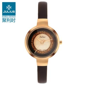 Julius Lady women's Wrist Watch Quartz Hours Best Fashion Dress Korea OL Leather Bracelet Girl Christmas Valentine Gift JA680