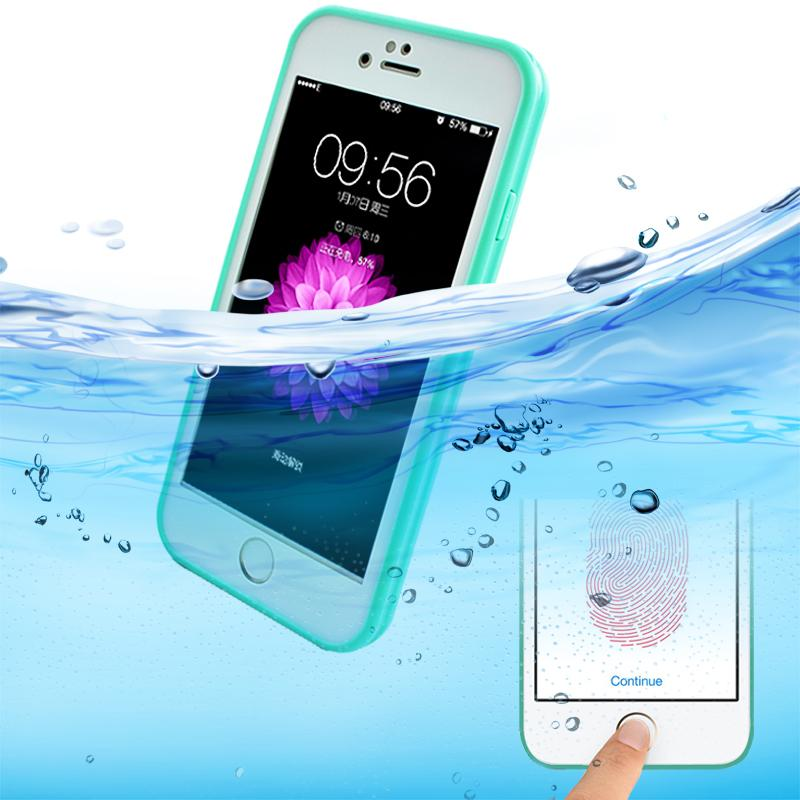 Luxucy Schookproof Dirtproof WaterProof Case For Iphone 6 6s Plus TPU+PC Waterproof Screen Touch Phone Cover for iphone SE 5 5s(China (Mainland))