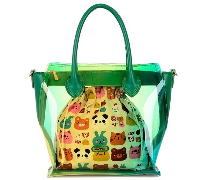 2015 fashion handbags transparent jelly candy color gradient face Shoulder Messenger beach bag<br><br>Aliexpress