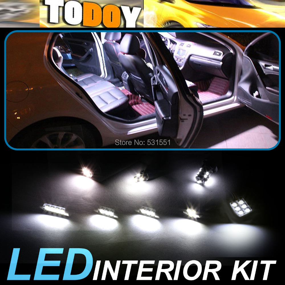 1White LED lights interior package kit Trailblazer 2002-2009 Car Styling Light Sourcing Accessories Lamp &30 - TODOY store