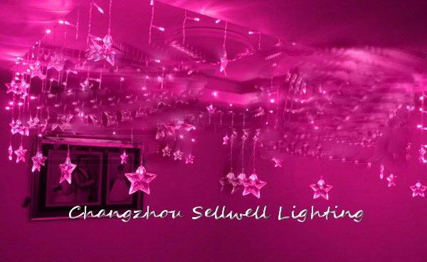 GREAT!Festival light wedding celebration product square pavilion decoration 0.75*8m five pointed star ice bar lamp H129(China (Mainland))