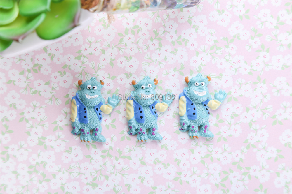 Free Shipping! Cartoon monster power company cabochons for DIY phone case decoration Resin cartoon accessories 20pcs/lot(China (Mainland))