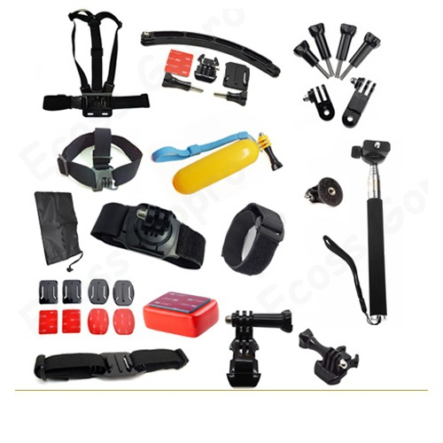 Gopro Extension Arm +Chest Belt +Rotation Wrist Strap + Wifi Remote helmet Strap+ Head Accessories