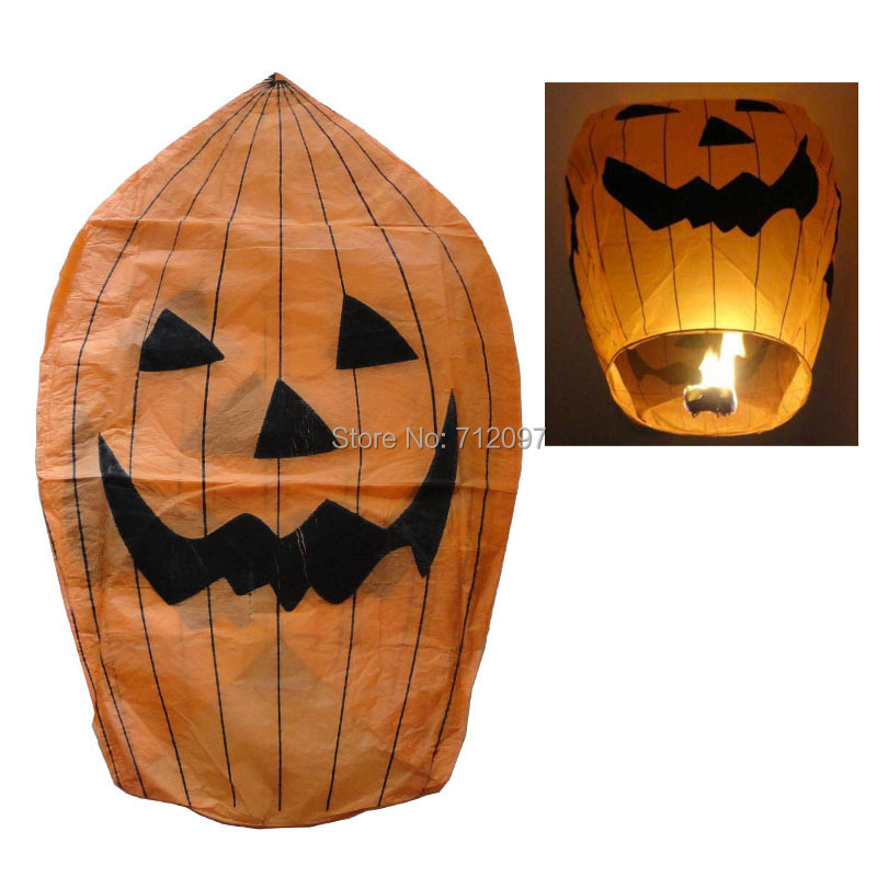 Free shipping 100pcs/carton Chinese wishing lantern hot air balloon, Good quality Halloween Sky lantern(China (Mainland))