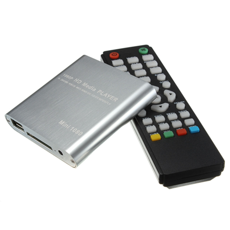 Top Selling Full HD 1080P Mini HDD Multi Media Player POUR HDTV MKV H.264 RMVB HDMI With HOST USB SD Card Reader Newest(China (Mainland))