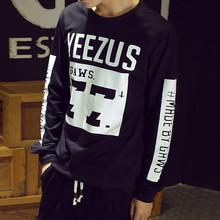 2015 новых осенью мужчины хип-хоп балахон прилив корейский свободно хеджирования футболка мужчин свободного покроя спорта мужская одежда скейтборд толстовка