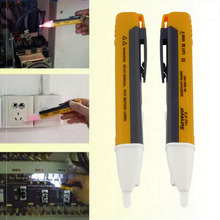 1pc Electric Socket Wall AC Power Outlet Voltage Detector Sensor Tester Pen LED light indicator 90-1000V  Hot Selling
