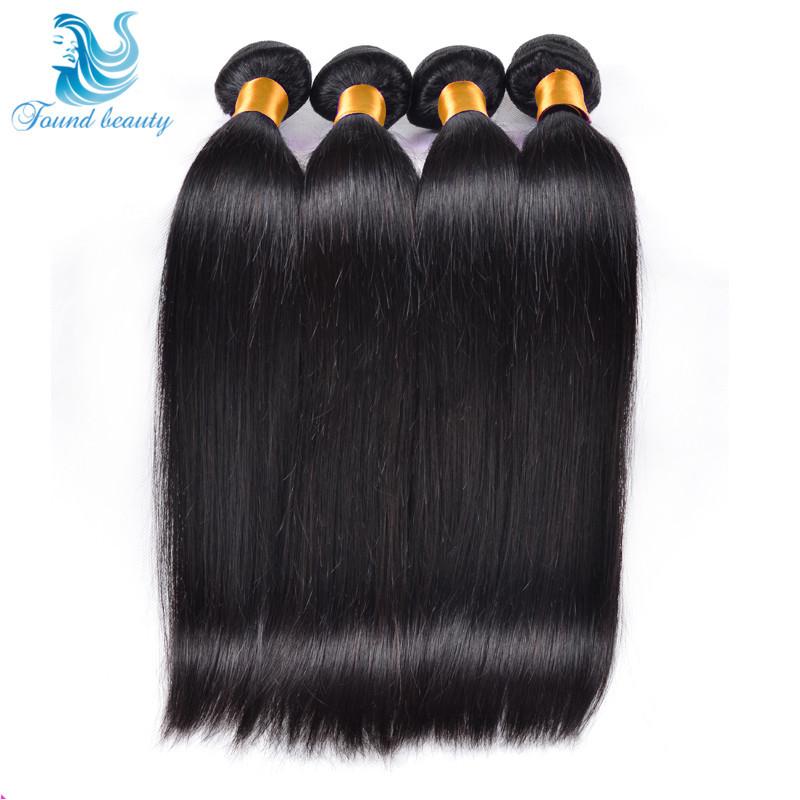 Brazilian Virgin Hair Straight 4 Pcs Lot Ms Beauty Hair Products Grade 7a Unprocessed Virgin Hair Brazilian Hair Weave Bundles