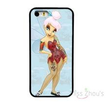 For iphone 4/4s 5/5s 5c SE 6/6s plus ipod touch 4/5/6 back skins mobile cellphone cases cover NEW TINKERBELL HIP TATTOO