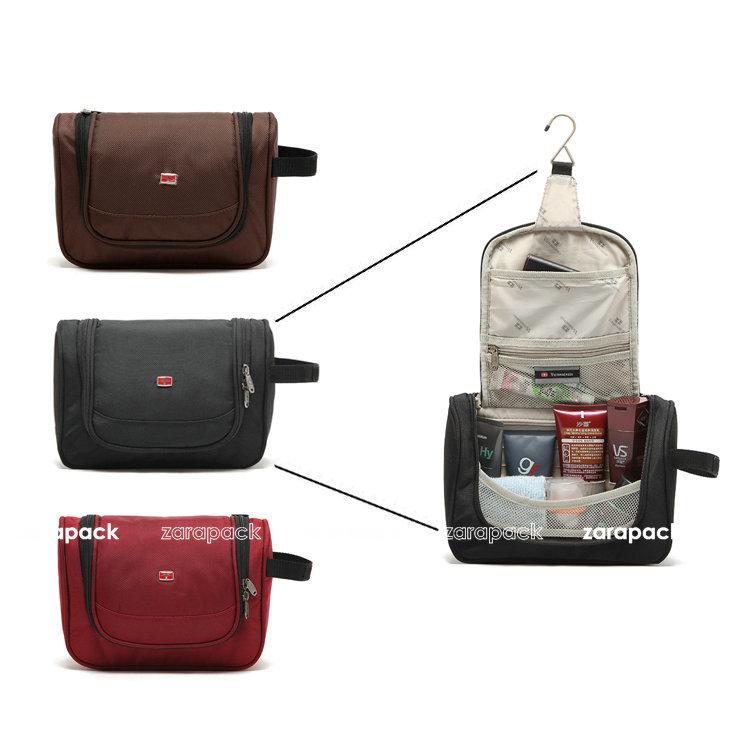 Wholesale Designer Brand Black Spacious Women Makeup Organizer Case Travel Toiletry  Bag Cosmetic Bag Free Shipping. Wholesale Designer Brand Black Spacious Women Makeup Organizer