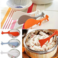 Vertical spoon Lovely Kitchen Supplie Squirrel Shaped Ladle Non Stick Rice Paddle Meal Spoon 1pcs BB11