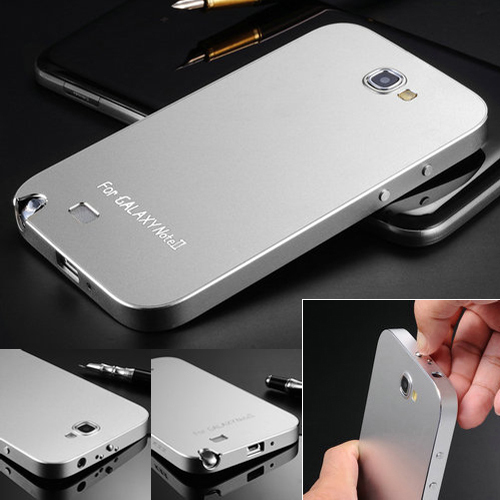 New Arrival Matting Metal Surface Aluminum Bumper Case For Samsung Galaxy Note 2 II Luxury Ultrathin 4 colors 10 pcs/lot(China (Mainland))