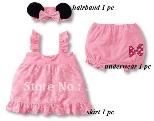 baby skirts funny Minny children costume,soft baby clothing,baby headband+skirt+underwear.8sets/lot,free shipping