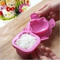 1X Kawaii Hello Kitty Rice Cake Chocolate Jelly Lunch Food Ball Mould Mold Sushi Shaper Kitchen Kit Cooking Tool Accessories