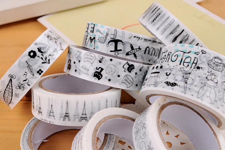 1 pcs Korean decorative adhesive washi tape scrapbooking tools stickers masking kawaii scotch mask DIY Cartoon stationery(China (Mainland))