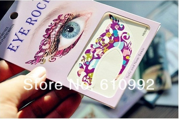 15pairs/lot Super Vintage Temporary Tattoo EyeLiners Sticker Shadow Smoky Eyes Eyeliner 9*14CM - Online Store 130536 store