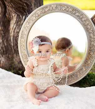 baby cream lace rompers newborn baby lace petti rompers with straps and bows fit 1 years old
