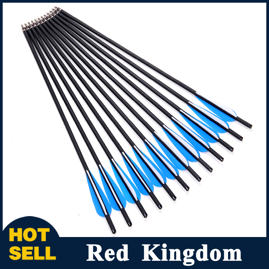 12pcs/lot 20 Carbon Arrows Archery Hunting OD 8.8mm Crossbow Bolt Arrows with 4 Vanes and Changeable Arrowheads Free Shipping<br><br>Aliexpress