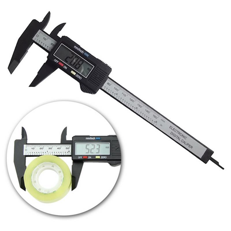 New 1 Pcs Carbon Fiber Composite 6 inch 150 mm Vernier Digital Electronic Caliper Ruler ZH278