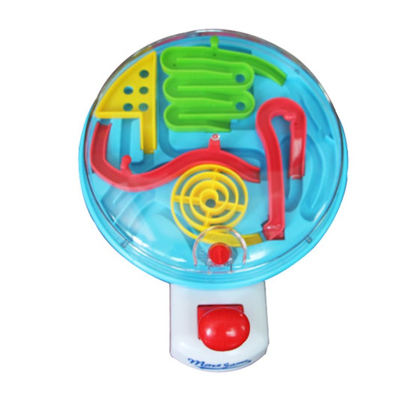 New Early Educational Plastic Maze Hand Control Steel Ball Handle Novelty Game Gift 3D Ball Maze Puzzle Adult Kids Intellect Toy(China (Mainland))