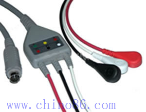 MEK one piece three lead ECG cable with leadwire , M160246, M360697,electrode:4.0 snap, OEM,ODM