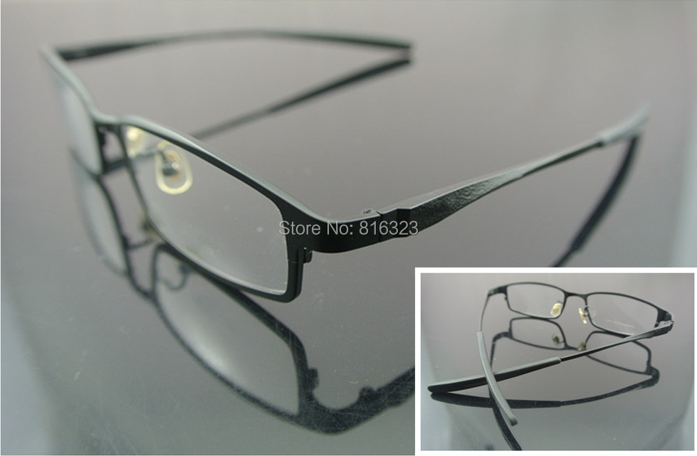 Pure Luxury Titanium Eyeglass Frame Black Full-Rim Man Women Glass Spectacles(China (Mainland))