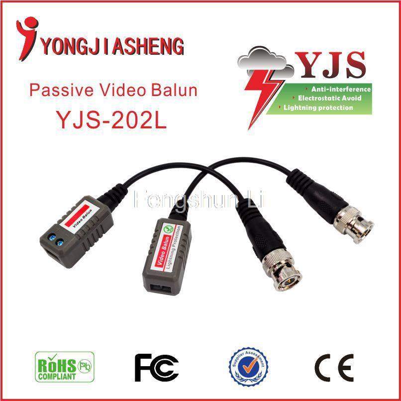 passive video balun CCTV BNC connector balun transceiver rj45 utp video balun up to 1500m with any active UTP video receiver(China (Mainland))