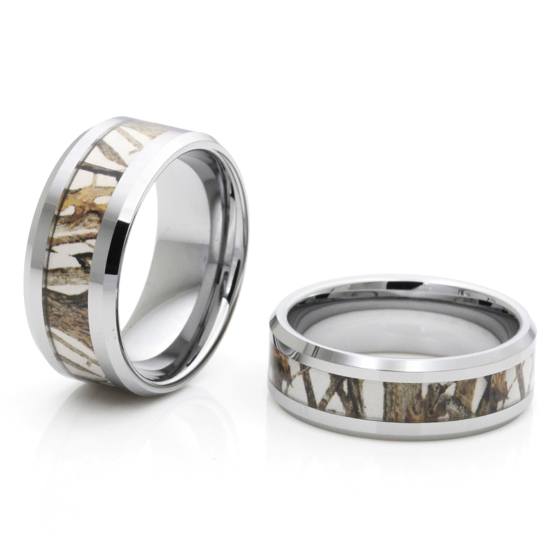 2016 very beautiful new tree camo ring tungsten camo ring for men and women(China (Mainland))
