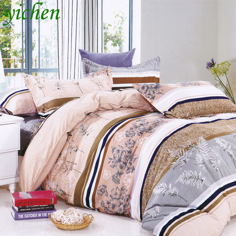 Customized Size High Quality New 100% Natural Cotton Comforter Cashmere Plant Quilt King Queen Size Print Flower Bedding MB005(China (Mainland))