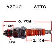 3 Electrode Spark Plug A7TC A7TJC For GY6 50-125cc Moped Scooter ATV Quads C7HSA CR7HSA