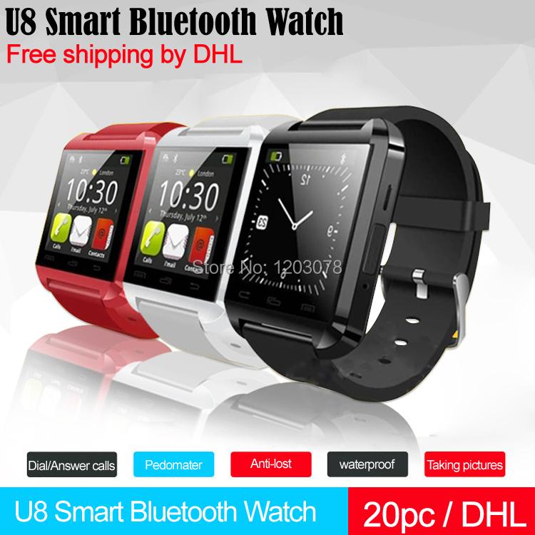 U8 Smart Bluetooth Watch Dial/answer calls Pedometer Altimeter Air-pressure gauge Receive messages Anti-lost Bluetooth Bracelet(China (Mainland))