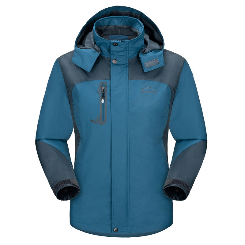 M-6XL Plus Size Spring Autumn Men's Outdoor Jackets Hoodie Plus Velvet Jacket waterproof windproof outwear men's Sport Coat(China (Mainland))