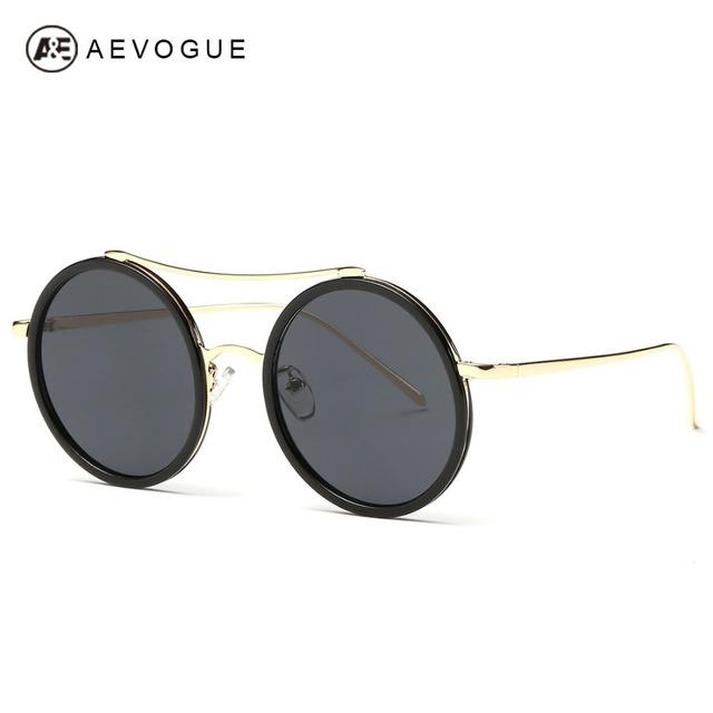 Aevogue дизайн круглые очки рамки женщины летний стиль солнцезащитные очки сплава храм óculos De Sol Feminino UV400 AE0286