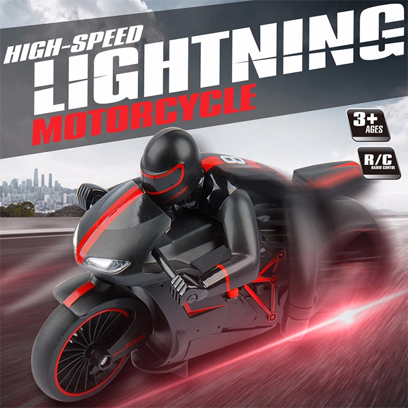 2.4G high speed motorcycle Inclining 45 Degree Flash Light Red Green Color RC Motorcycle Remote Control Motorbike