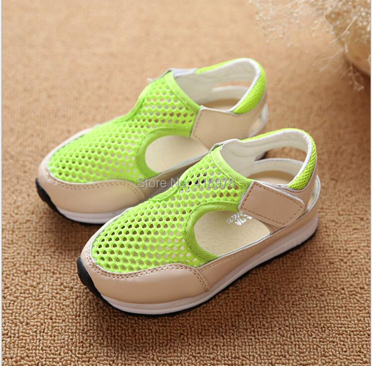 New spring summer for children girl boy shoes fashion princess shoes mesh ventilate single shoe cut