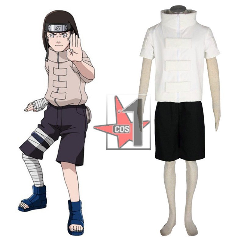 High Quality Hyuga Neji cosplay clothing set White shirt and Black pants for Mens Role playing from Anime Naruto CN0687AОдежда и ак�е��уары<br><br><br>Aliexpress