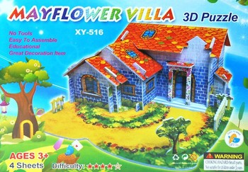 Farm House 3D Paper Cardboard Puzzle DIY Handmade Early Educational Toy Jigsaw Puzzle Child Toy 3D Puzzle Free Shipping