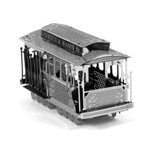 Трамвай 3D Металлические Головоломки DIY Собрать Макет Транспорт Из Нержавеющей Стали Обучения Образование Игрушки Головоломки Детские Игрушки