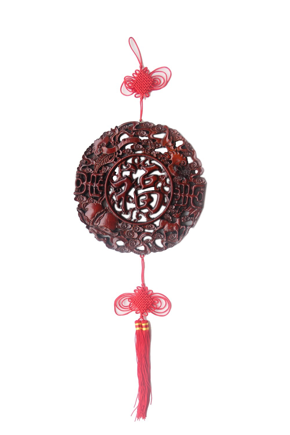 With China character Chinese wood carvings decoratedthe entrance of Chinese antique furniture camphor wood pendant plum blessing(China (Mainland))