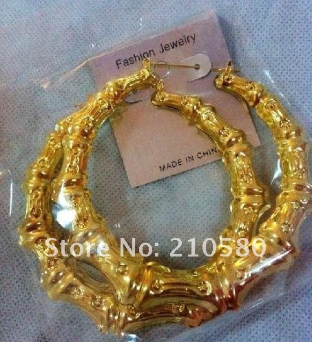 Super Big 9cm Circle Hoop Earrings Rhianna With Style bamboo Earring for girls Fashion Women's Jewelry