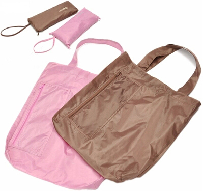 Free shipping oxford cute fold shopping bag vegetable bag pink handiness market shopping bag(China (Mainland))