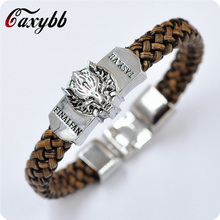 Buy New Men Jewelry Leather Bracelet Game Men's Game Thrones Song Ice Fire jewelry Leather Braided Wristband Gif for $1.48 in AliExpress store
