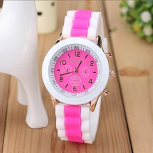 2016 Fashion Silicone Women's Wrist Watches childrens/Cartoon Quartz Watch Brand GENEVA watches for Women relojes mujer clock